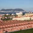 Spanish town Algeciras and Gibraltar in the background — Stockfoto