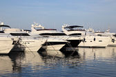 Luxury yachts in the marina of Marbella, Spain — Stock Photo