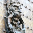 Ancient door knocker in Cordoba, Andalusia Spain - Stock Photo