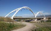 Modern bridge - Puente Abbas ibn Fimas in Cordoba, Andalusia Spain — Stock Photo