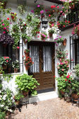 Typical inner courtyard in Cordoba during the Festival of los Patios 2013. Andalusia, Spain — Stock Photo
