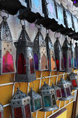Handmade colorful lanterns in Cordoba, Andalusia Spain — Stockfoto