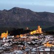 Andalusian town Antequera at dusk, Spain — Stock Photo