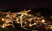 Village Setenil de las Bodegas at night, Andalusia Spain — Stock Photo