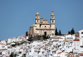 Cathedral in the andalusian town Olvera, Spain — Stock Photo