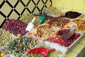 Olives for sale in the medina of Rabat, Morocco — Stock Photo