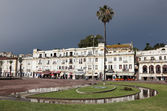 Square in the city of Tangier, Morocco — Stock Photo