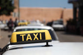 Grand Taxis in the city of Rabat, Morocco — Stock Photo