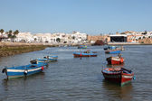 Fishing boats on the Bou Regreg river in Rabat, Morocco — Foto de Stock