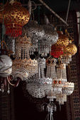 Moroccan lamp shop in the medina of Rabat, Morocco — Stock Photo