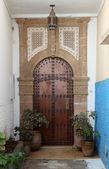 Oriental entrance door in Rabat, Morocco — Stock Photo