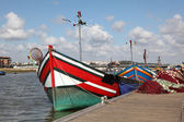 Fishing boats at the Bou Regreg river in Rabat, Morocco — Stock Photo