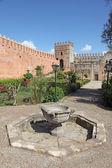 Garden inside of the Udayas Kasbah in Rabat, Morocco — Stock Photo