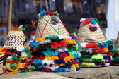 Traditional hats for sale in Chefchaouen, Morocco — Stock Photo