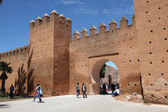 ворота в медину bab chellah, рабат, марокко — Стоковое фото