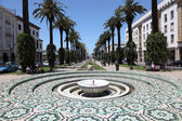 Fountain in the Avenue Mohammed V in Rabat, Morocco — Stock Photo