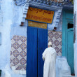Street in the medina of Chefchaouen, Morocco — Стоковая фотография