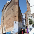 Stock Photo: Steep street in medinof Chefchaouen, Morocco