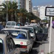 Taxi rank in Rabat, Morocco - Stock Photo
