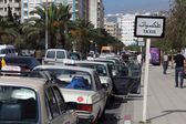 Taxi rank in Rabat, Morocco — Stock Photo