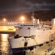 Stock Photo: Ferry ship in new port Tangier Med, Morocco