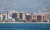 Waterside buildings in Malaga, Andalusia Spain — Stock Photo