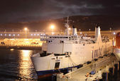 Ferry ship in the new port Tangier Med, Morocco — Stock Photo