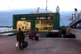 Ferry boarding in Tangier Med, Morocco — Stock Photo