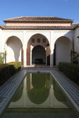 Patio de la alberca à alcazaba de malaga. andalousie, espagne — Photo