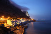 The Sandy Bay in Gibraltar at dusk — Stock Photo
