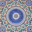 Oriental mosaic in Morocco, North Africa — Stock Photo