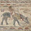 Stock Photo: Ancient Rommosaic in Volubilis, Morocco, North Africa