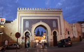 Bab Bou Jeloud - ancient gate to the medina in Fes, Morocco — Stock Photo