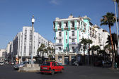 Square in the city of Casablanca, Morocco, North Africa — Stock Photo