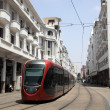 Modern tramway in the city of Casablanca, Morocco — Stock Photo
