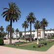 Stock Photo: Square with palm trees in Casablanca, Morocco, North Africa