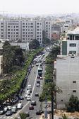 Street in the city of Casablanca, Morocco — Stock Photo
