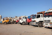 Trucks parking in Casablanca, Morocco, North Africa — Стоковое фото
