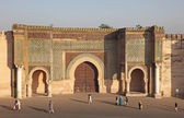 Bab El-Mansour gate in Meknes, Morocco — Stock Photo