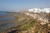 Moroccan town Asilah at the Atlantic Ocean Coast. North Africa — Foto Stock