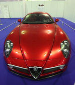 Alfa Romeo 8c at the Ferrari Exhibition in Estepona. July 29, 2013, Andalusia Spain — Stock Photo