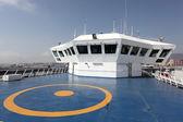 Helipad on a modern ferry boat — Stock Photo