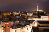 View over the medina at night. Casablanca, Morocco — Stock Photo