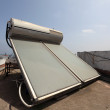 Solar water heater on the roof in Casablanca, Morocco — Stock Photo