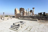 Roman temple ruin in Volubilis, Morocco, North Africa — Stock Photo