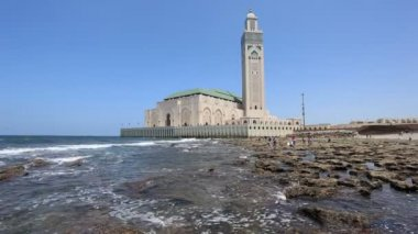 Great Mosque of Hassan II in Casablanca, Morocco — Stock Video