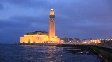 Moschea di hassan ii a casablanca, marocco — Video Stock