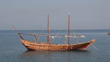 Traditional arabic dhows in Doha, Qatar — Stock Video