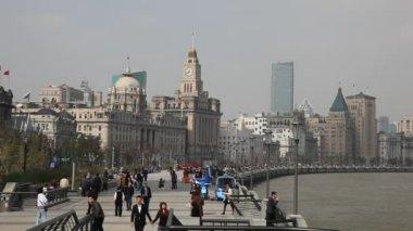 το bund στη σαγκάη, κίνα — Stockvideo