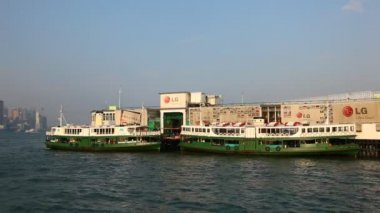 Star Ferry boats in Hong Kong — Stock Video